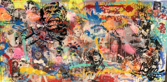 Cédric Bouteiller, 'Untitled (Hulk, Chaplin, Wonder Woman)', 2017, Denis Bloch Fine Art