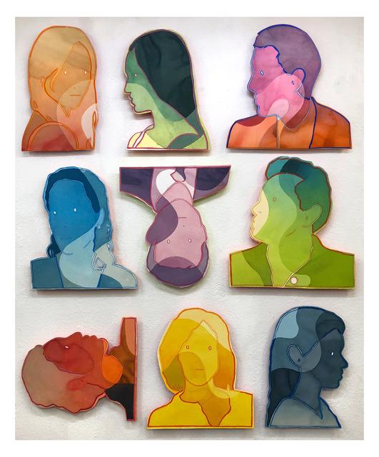 Dan Gluibizzi, 'nine heads', 2019, Russo Lee Gallery