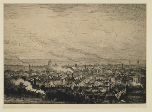 , 'London from Parliament Hill,' ca. 1923, Osborne Samuel