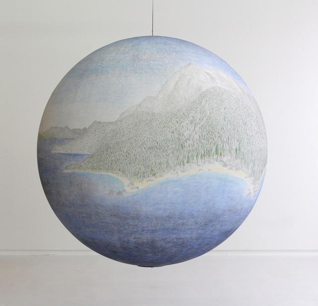 Russell Crotty, 'Around the Vast Blue', 2013, Sculpture, Ink, acrylic and gouache on paper on fiberglass sphere, Hosfelt Gallery