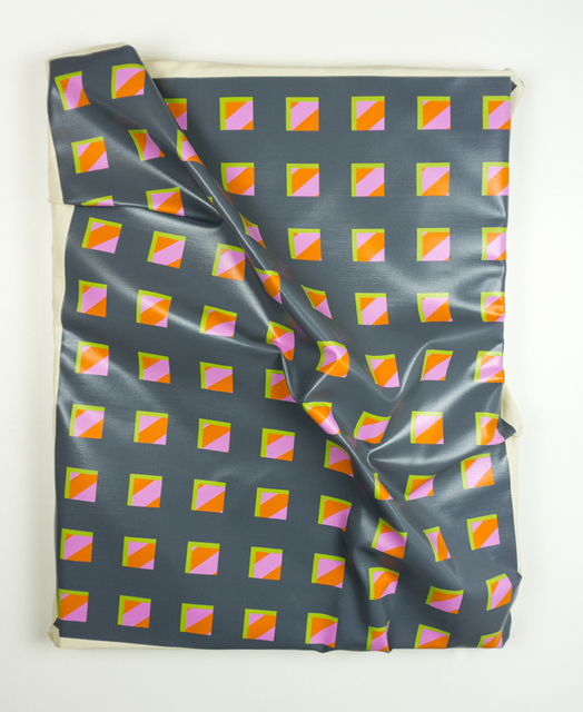 ", '40"" x 32"" on 34"" x 26"" (Pink and Orange under Gray),' 2017, Cris Worley Fine Arts"
