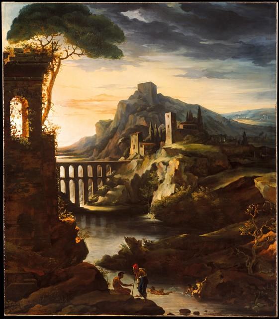 Théodore Géricault, 'Evening: Landscape with an Aqueduct', 1818, The Metropolitan Museum of Art