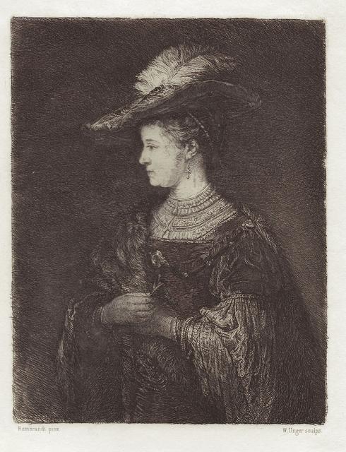 William Unger, 'Saskia van Uylenburgh', 1910, Hans den Hollander Prints