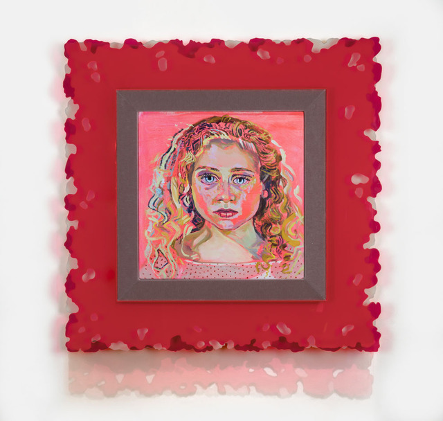 Elizabeth Chapin, 'Fluorescent Cream Froth', 2018, Painting, Acrylic on canvas with plexiglass frame, Wally Workman Gallery