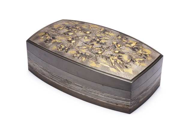 ", 'Shiboichi Inlay Box""1953Nitten Exhibition"",' 1953, Yumekoubou Antique"