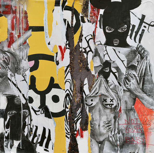 MissMe, 'Nah Boy', 2017, Drawing, Collage or other Work on Paper, Mixed media on wood panel, Galerie C.O.A