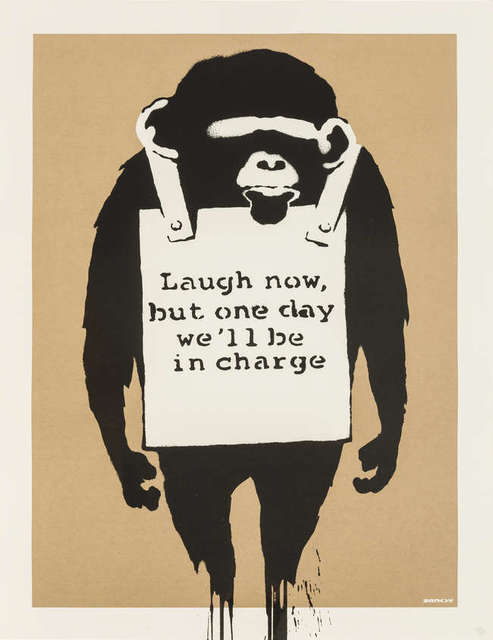 Banksy, 'Laugh Now But One Day We'll Be In Charge', 2003, Hidden