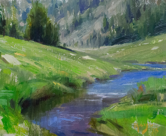 , 'Saddle Bag Creek Study,' , Gallery 1261
