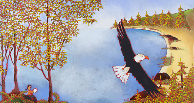 , 'Le vol de l'aigle et la plage,' 2015, Studio 21 Fine Art