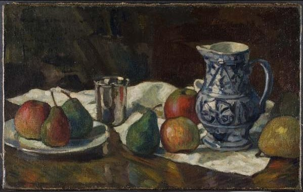 , 'Still Life with Blue and White Jug,' 1908, Davis Museum