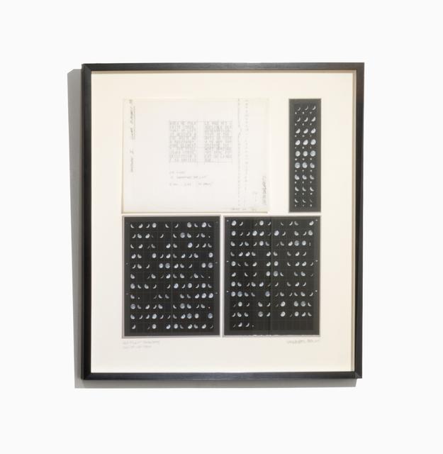 , 'Oración Lunar II, estudios y notas,' 1980-2015, Herlitzka + Faria