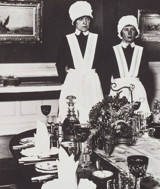Bill Brandt, 'Parlourmaid and under-parlourmaid ready to serve dinner', 1936, Phillips