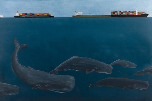 , 'A Pod of Whales,' 2018, Jonathan Cooper
