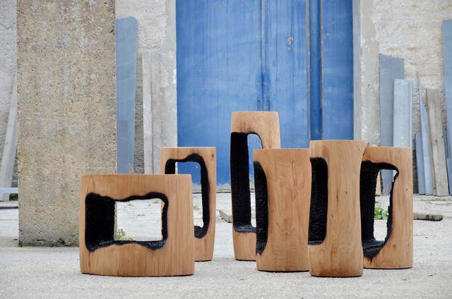 , 'Ausgebrannt Stools / Low Tables Inner Center,' 2017, Spazio Nobile