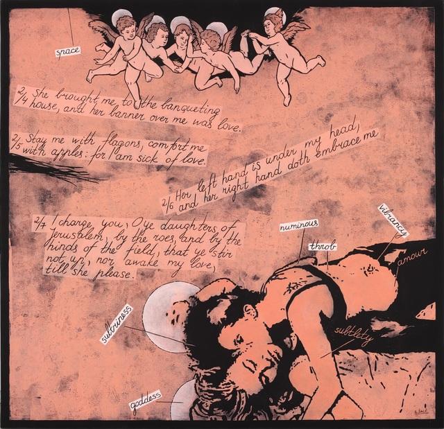 Laisvydė Šalčiūtė, 'Song of Songs II', 2010, Painting, Oil and acrylic on canvas, woodcut, Contour Art Gallery