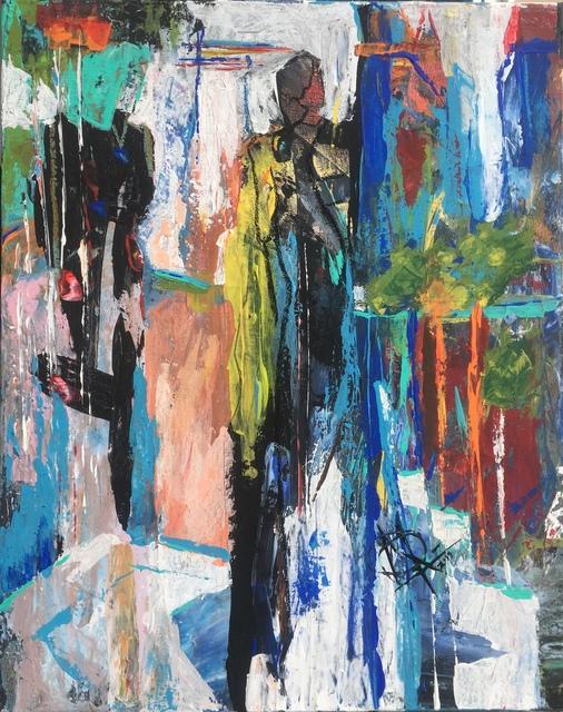 Mariam Qureshi, 'Yegart walks ', 2019, Painting, Acrylic, oil pastels on canvas, Lotus Art Gallery