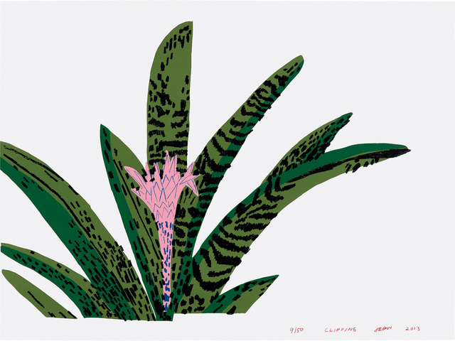 Jonas Wood, 'Clipping', 2013, Print, Screenprint in colors, on Rives BFK paper, the full sheet., Phillips