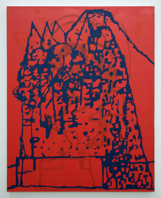 , 'mountain dwellers (red),' 2017, Romer Young Gallery