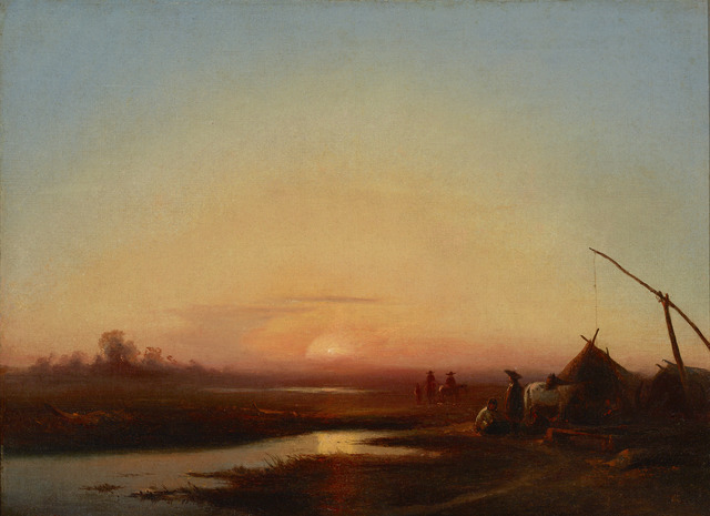 , 'Sunset on the Plains,' 19th Century, M.S. Rau Antiques