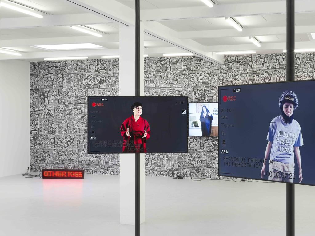 Exhibition view Anahita Razmi – Spoilers, 2018, courtesy by the artist and Kunstraum Innsbruck. Photo: Günter Richard Wett.