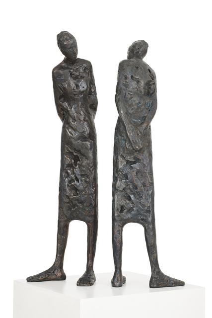 Tina Heuter, 'Behind me and myself', 2017, Sculpture, Bronze, 2 parts, mianki.Gallery