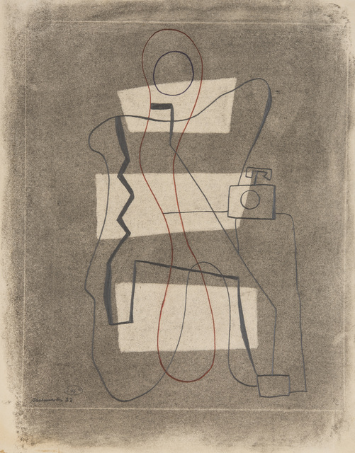 , 'Linienfigur mit weißen Flächen und Telefon (Line Figure with White Surfaces and Telephone),' 1930, Galerie Klaus Gerrit Friese