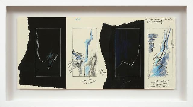 , 'Étude I (Silk & Courants Telluriques),' 2017, Newzones