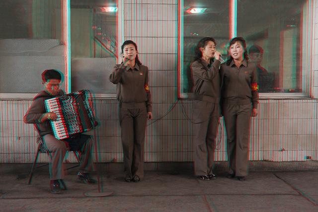 , ' #62. Accordionist + Singers, Chollima Steelworks,' 2014, Pékin Fine Arts