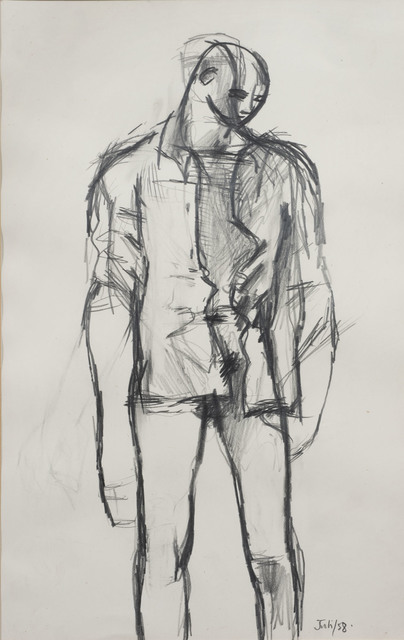 , 'Untitled (Standing Youth with a Shirt),' 1958, Osborne Samuel