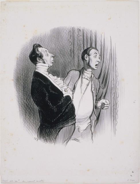 Honoré Daumier, 'Les Beaux Jours de la Vie: Un Nouvel Anobli', 1845, Phillips Collection