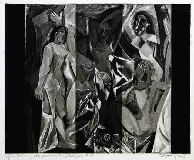 , 'Untitled (After Picasso, Les Demoiselles d'Avignon, 1907),' 2016, Cahiers d'Art