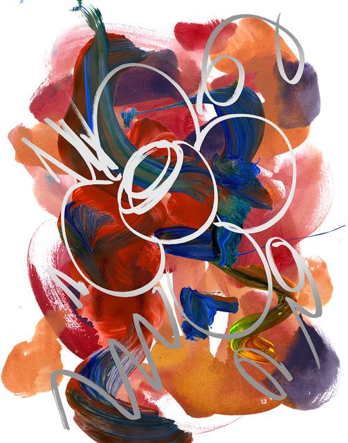 Jeff Koons, 'Flower Drawing', 2019, Gagosian