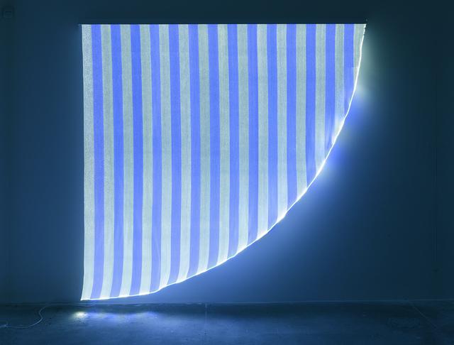 , 'Optical Fiber, White and Blue Arch, Situated Work,' November 2012, Bortolami