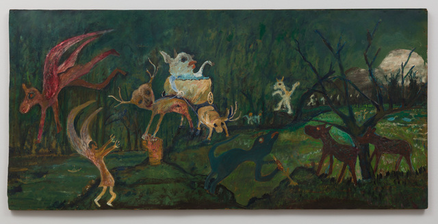 , 'Untitled (Winged and Horned Figures, Forest),' n.d., The Good Luck Gallery
