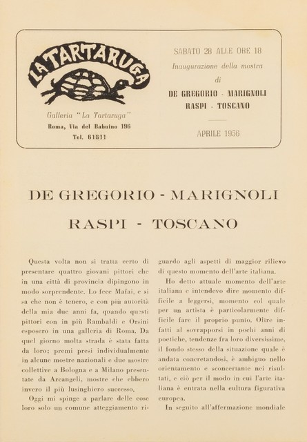 Various Artists, 'Bollettino', Finarte