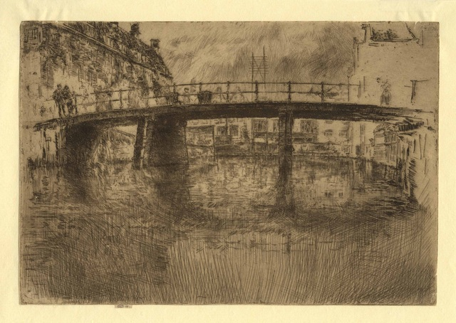 , 'Bridge Amsterdam,' 1889, Harris Schrank Fine Prints