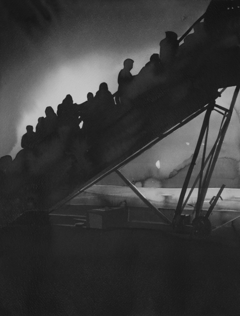 Radenko Milak, 'Hungary 1990. Russian Jews boarding planes on their way to Israel, at Budapest airport', 2019, Ani Molnár Gallery