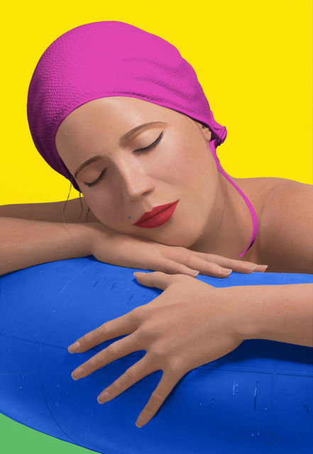 Carole A. Feuerman, 'SERENA WITH PINK CAP', 2012, Gallery Art