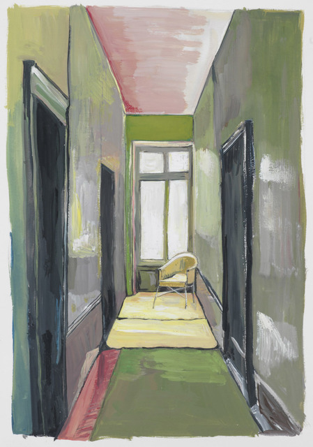 , 'Corridor with Yellow Chair,' 2012, Julie Saul Gallery