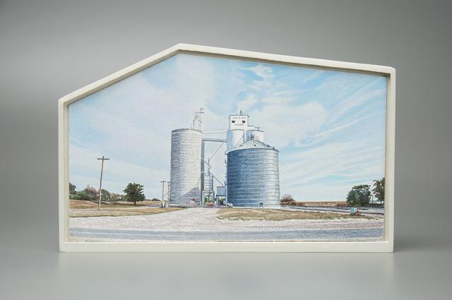 , 'Grain Elevators, Pierceville, Kansas, US Highway 50,' 2016-2017, Valley House Gallery & Sculpture Garden