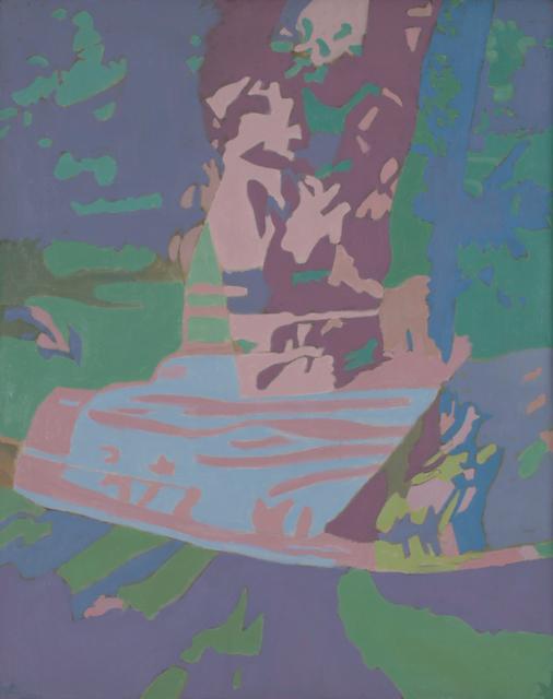 Ralph Wickiser, 'Covered Apple Tree Net Blue', 1990, Walter Wickiser Gallery