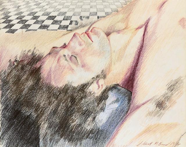 Mark Beard, 'Untitled (Man Reclining on Tile Floor)', 1974, ClampArt