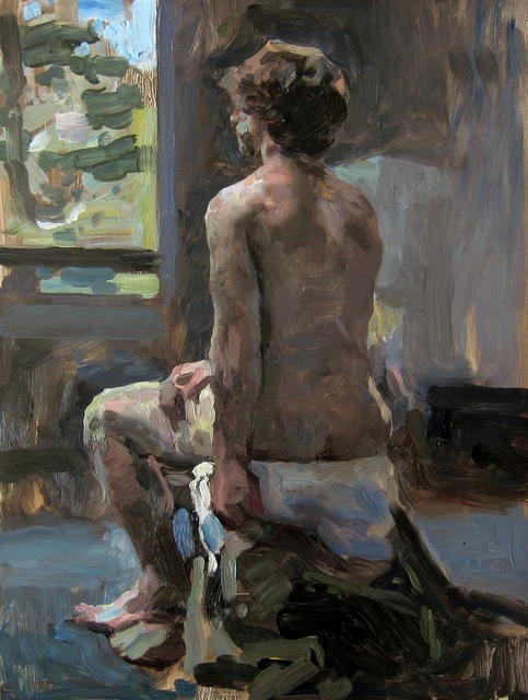 , 'Man by a Window,' , Sirona Fine Art
