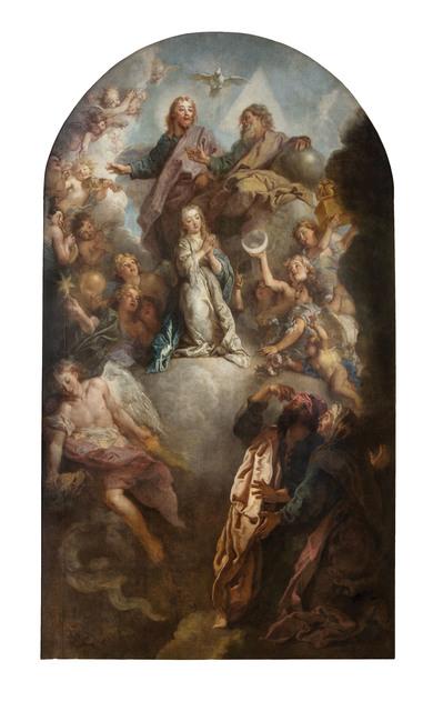 , 'La consécration de la Vierge (The Consecration of the Virgin),' c. 1703, Château de Versailles