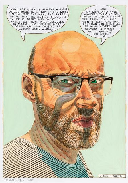 , 'Self-portrait: Moral certainty,' 2018, Stevenson