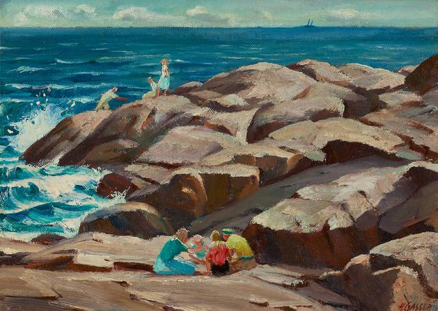 , 'On the Seashore,' , Questroyal Fine Art