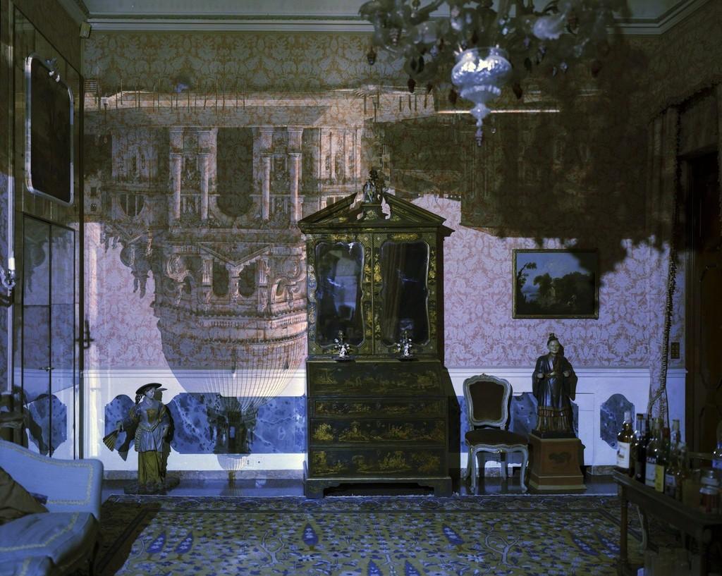 Camera Obscura: Santa Maria della Salute inside Palazzo Livingroom, Venice, Italy