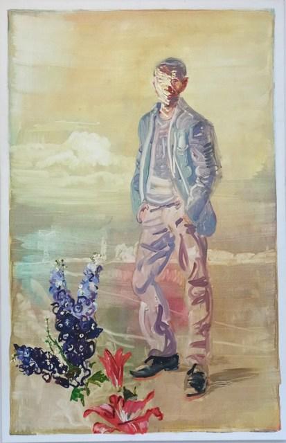 , 'Mann in brandenburgischer Landschaft,' 2013, Flowers