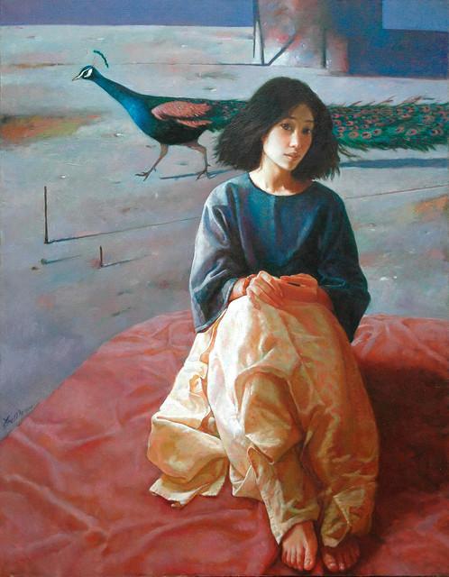 Xue Mo 薛墨, 'Beautiful Peacock', 2000, Tao Water Art Gallery