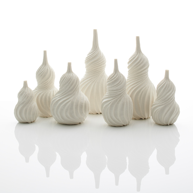 Andrew Wicks, 'Still Life of Seven Vases', 2019, Design/Decorative Art, Thrown and carved porcelain, Adrian Sassoon